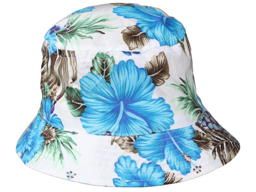 Bucket hat letní kytičkovaný bavlněný klobouk Fiebig 1903
