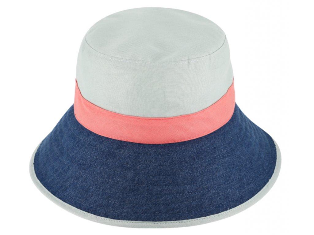 Bucket hat letní lněný klobouček s širší krempou Fiebig 1903 limetka