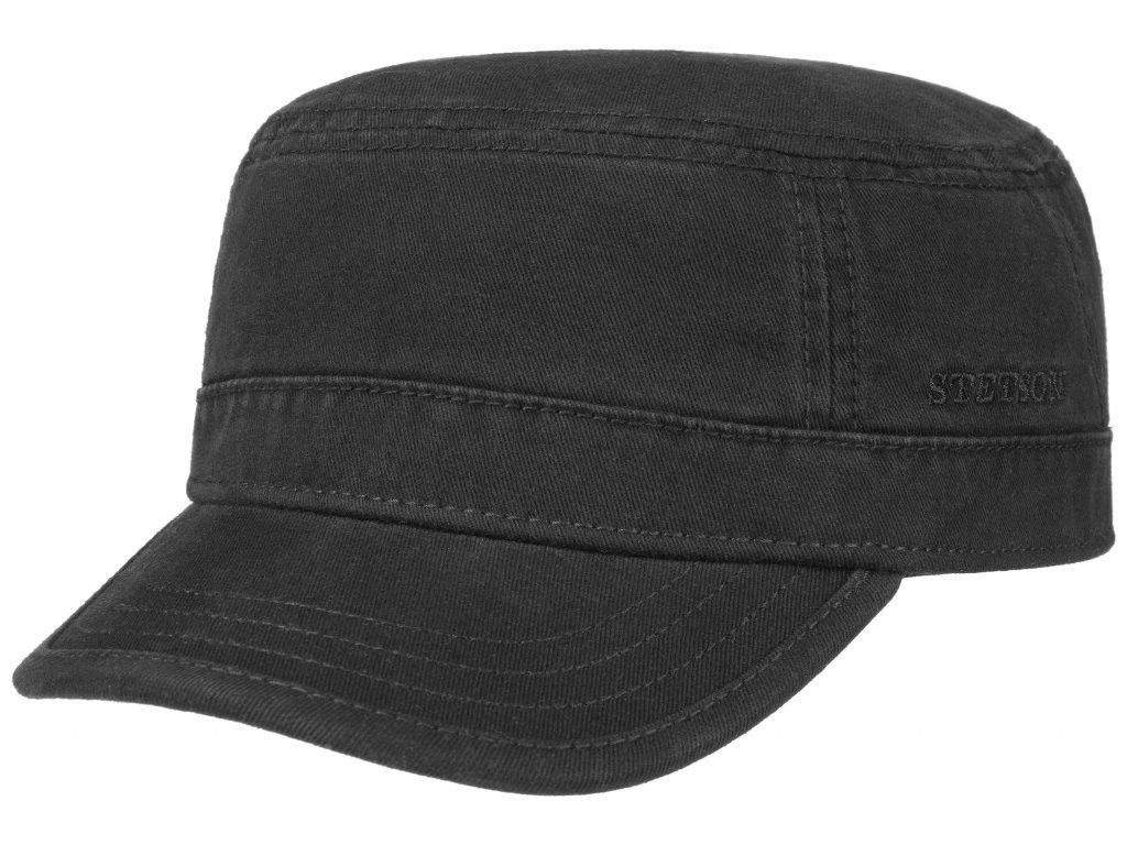 Military čepice od firmy STETSON - Army Cap  7491101 - černá