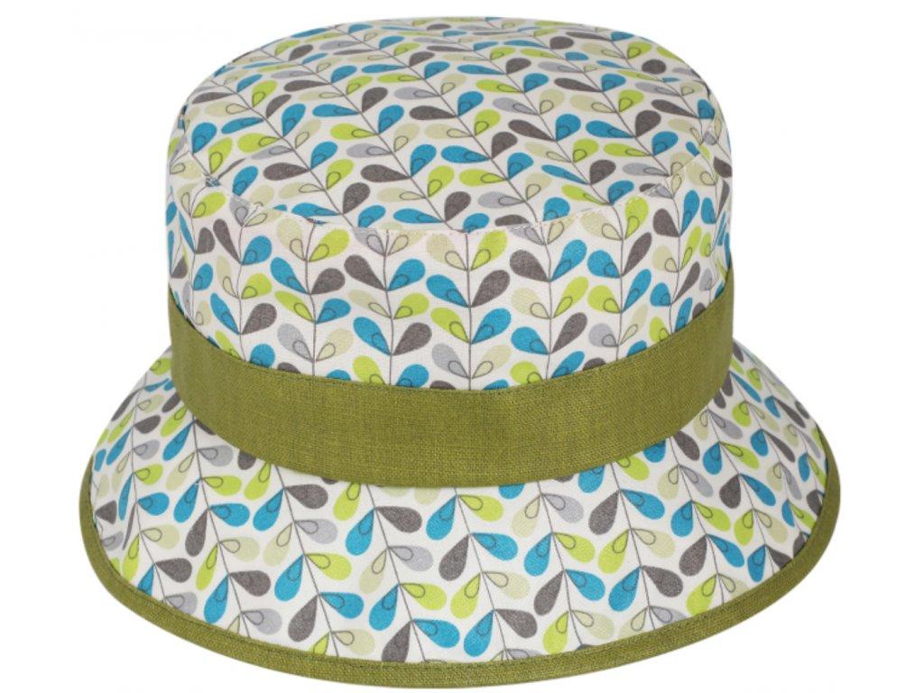 Nepromokavý bucket hat - letní kiwi bavlněný klobouk - Fiebig 1903