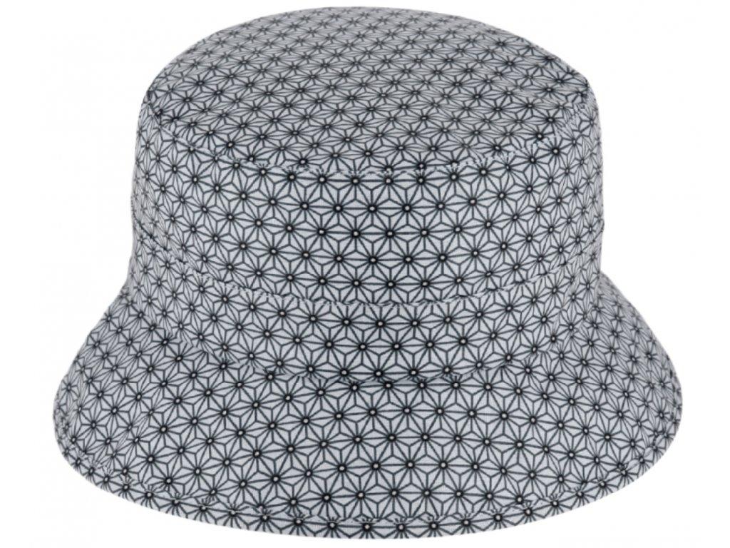 Voděodolný bucket hat letní modrý bavlněný klobouček Fiebig 1903