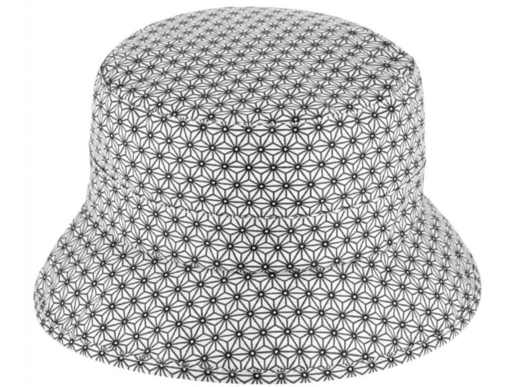 Voděodolný bucket hat letní modrý bavlněný klobouček Fiebig 1903 4