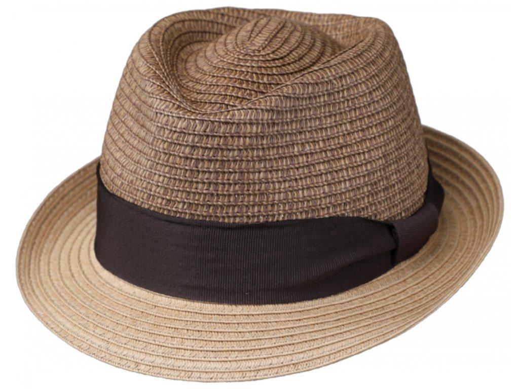 Unisex letní béžový klobouk Trilby od Fiebig Trilby Toyo