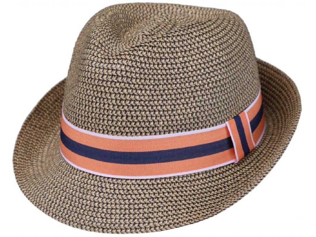 Unisex letní béžový  klobouk Trilby od Fiebig - Trilby Toyo
