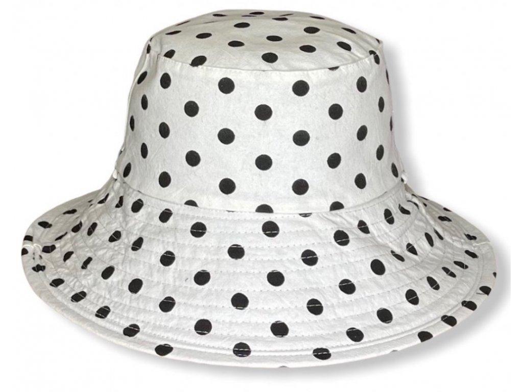 28833 damsky letni puntikovany oboustranny klobouk