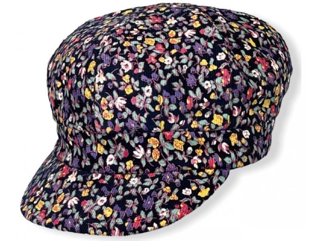 Dámská květovaná čepice 2