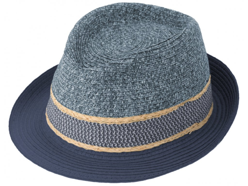 modry letni klobouk