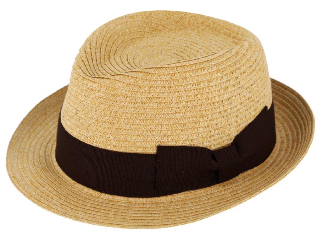 Unisex letní klobouk, nemačkavý. Skvěla kombinace netradičního vzhledu s luxusní širokou stuhou.