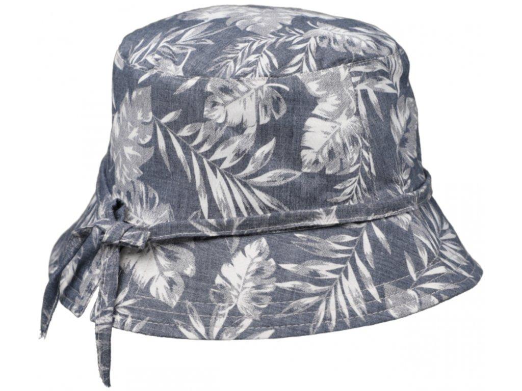 Bucket hat letní modrý bavlněný klobouk Fiebig 1903