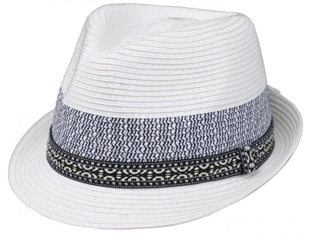 Unisex bílý letní klobouk Trilby od Fiebig Trilby Toyo