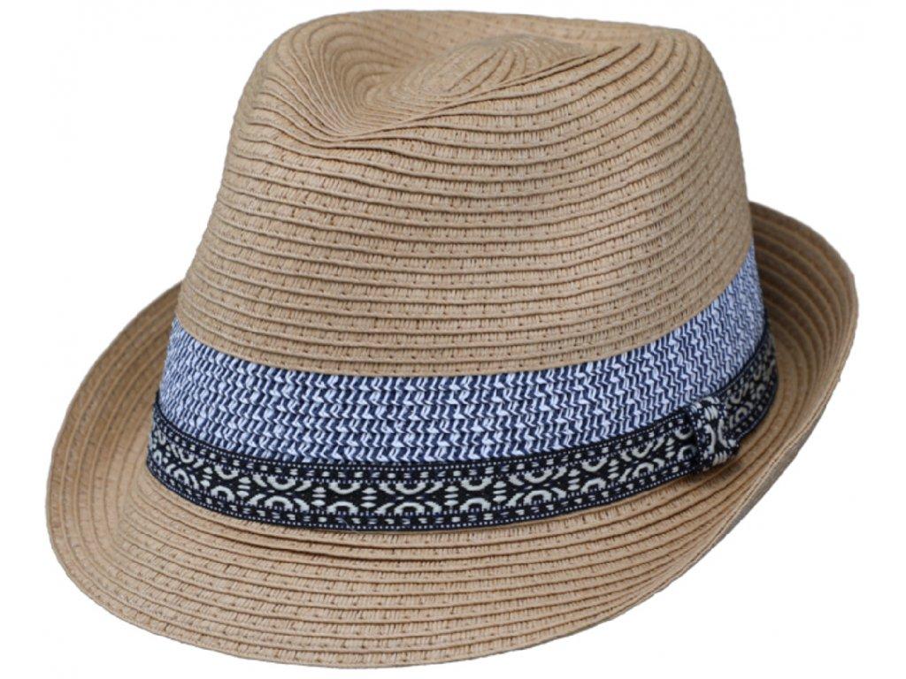 Unisex béžový letní klobouk Trilby od Fiebig Trilby Toyo