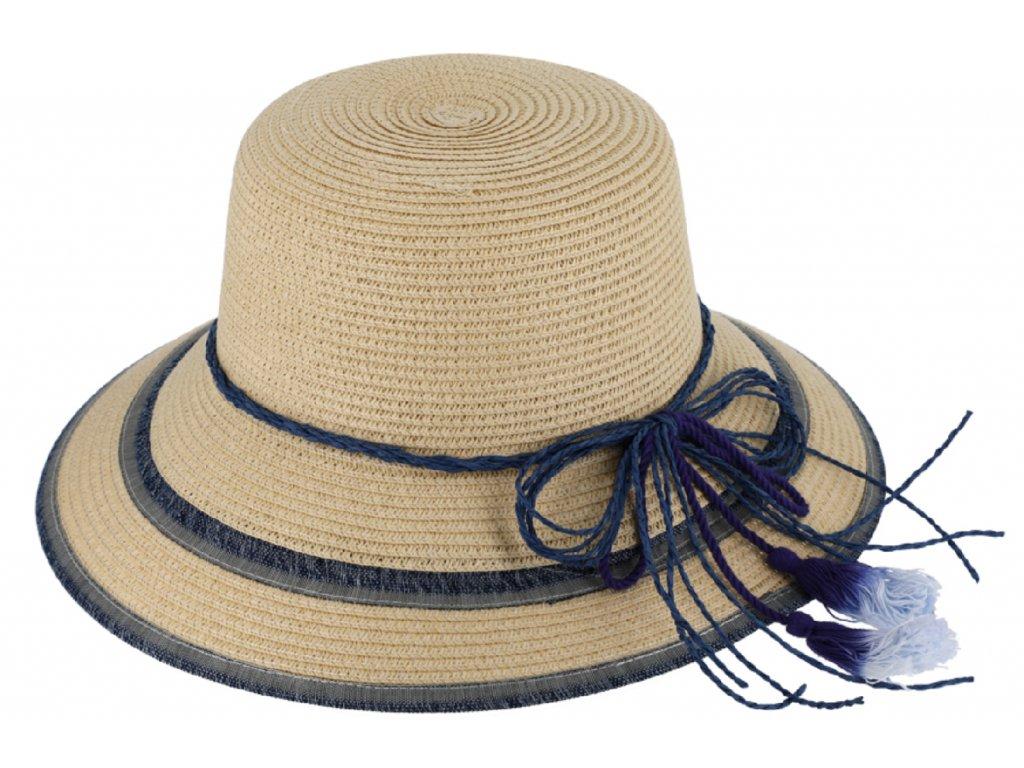 Dámský letní klobouk Clochet s dekorativní stuhou Fiebig