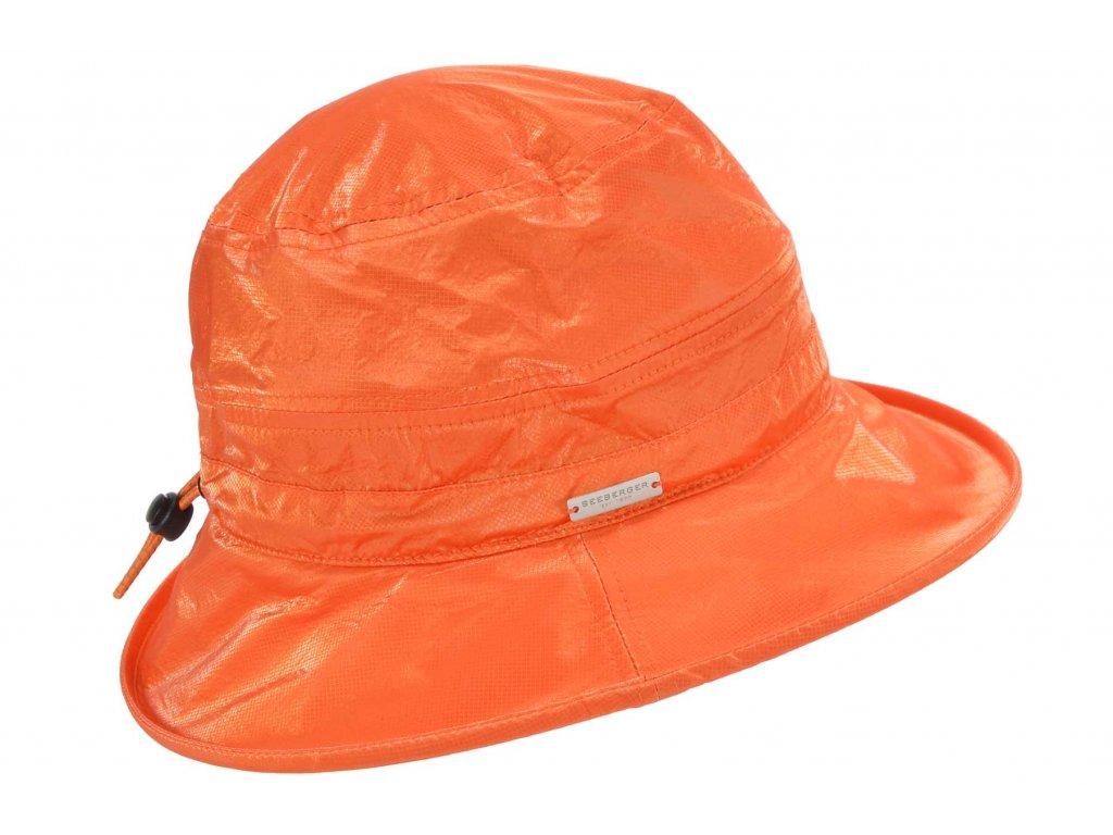 Dámský nepromokavý klobouk - terakotový - Bucket Hat - Seeberger