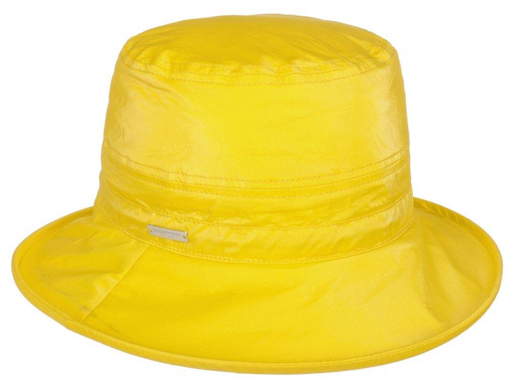 Dámský nepromokavý klobouk žlutý Bucket Hat Seeberger