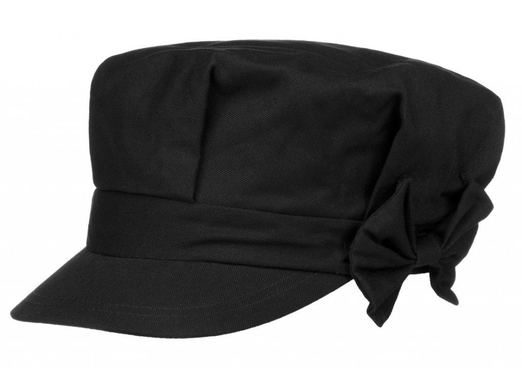 Dámská bavlněná bekovka s mašličkou černá 2