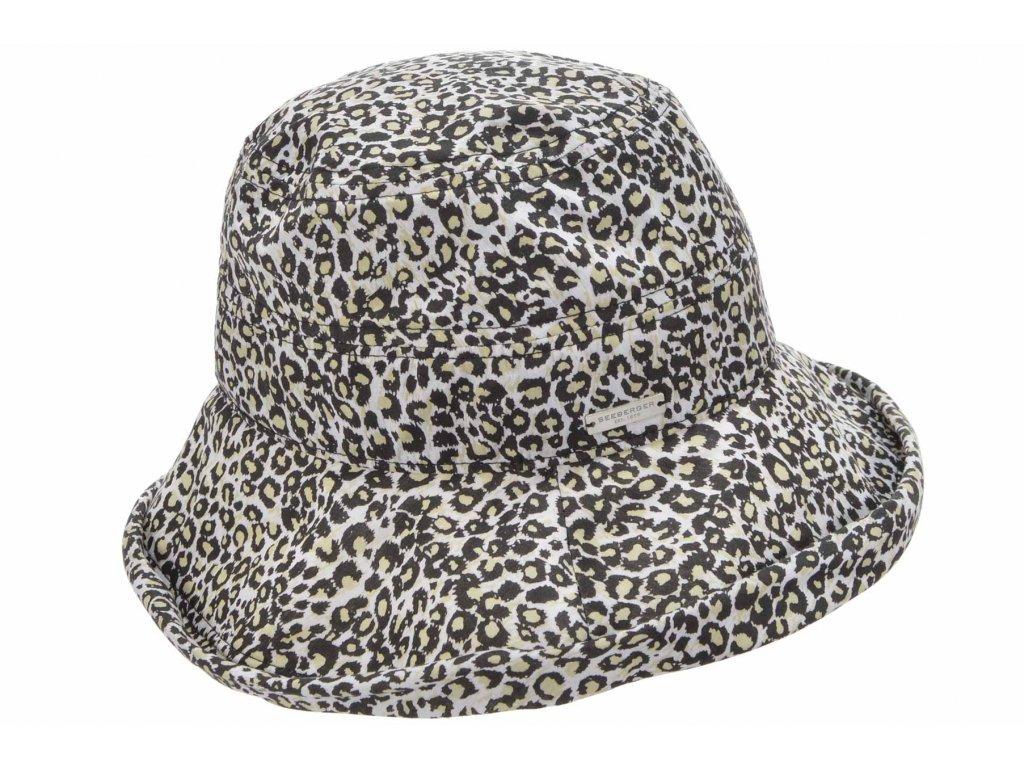 Dámský letní bucket hat s velkou krempou - zvířecí print - Seeberger