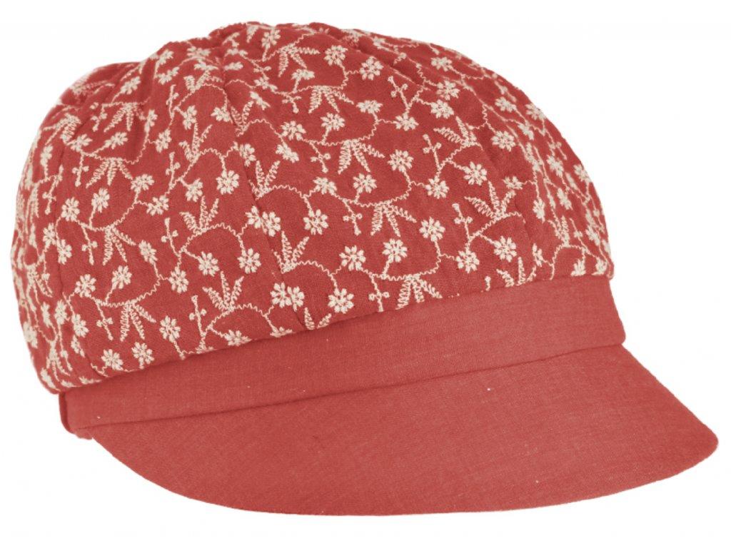 Dámská červená letní bavlněná bekovka