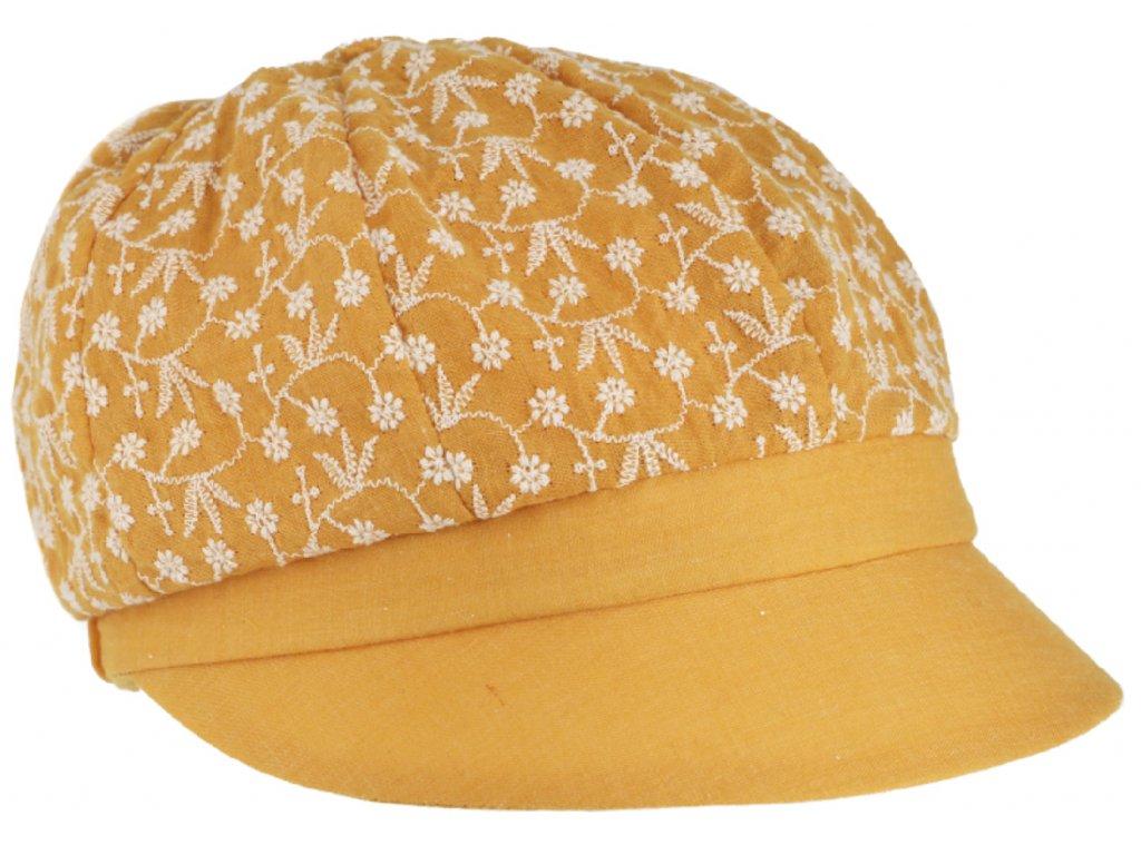 Dámská letní žlutá bavlněná bekovka