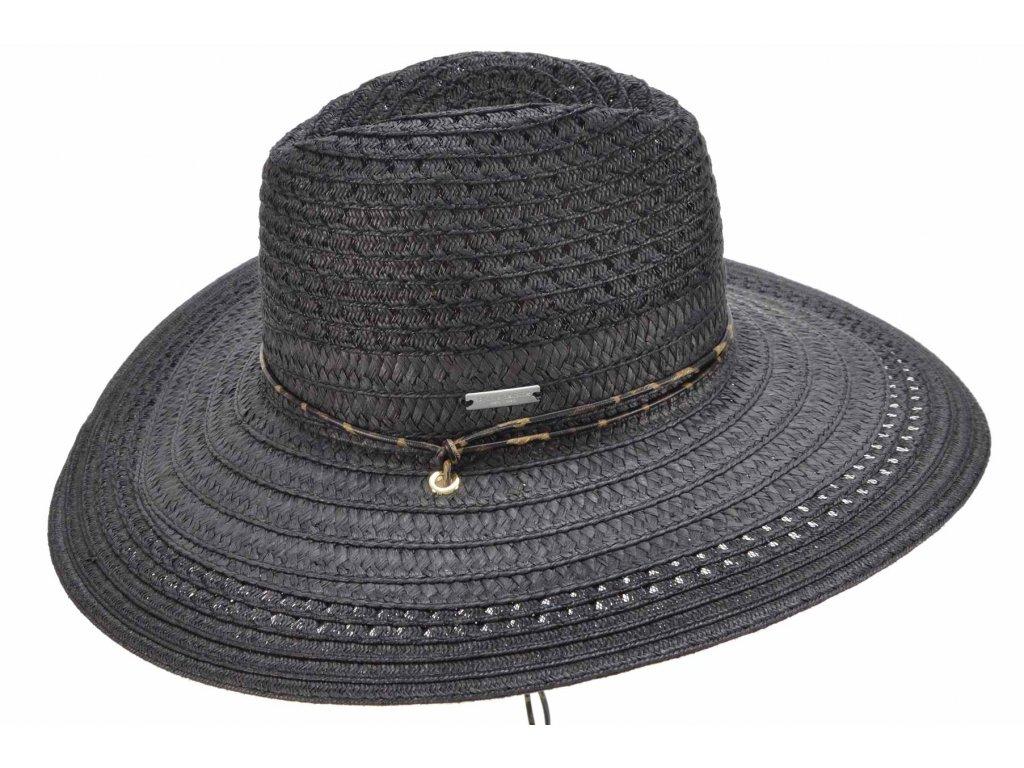 Dámský letní Fedora klobouk se šňůrkou pod bradu - Seeberger