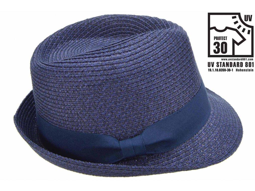Modrý letní klobouk Trilby - Seeberger
