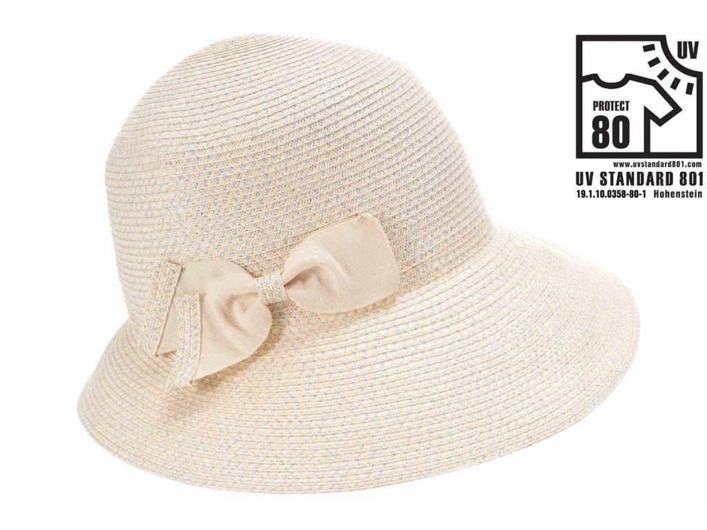 Letní dámský nemačkavý klobouk - cloche se zkrácenou krempou vzadu