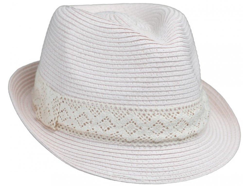 Dámský letní klobouk Trilby od Fiebig pudrový