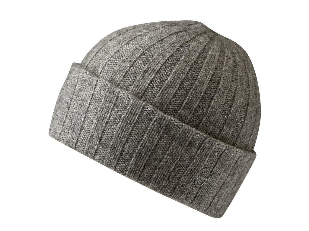 Kašmírová čepice Stetson - světle šedá - 8539201