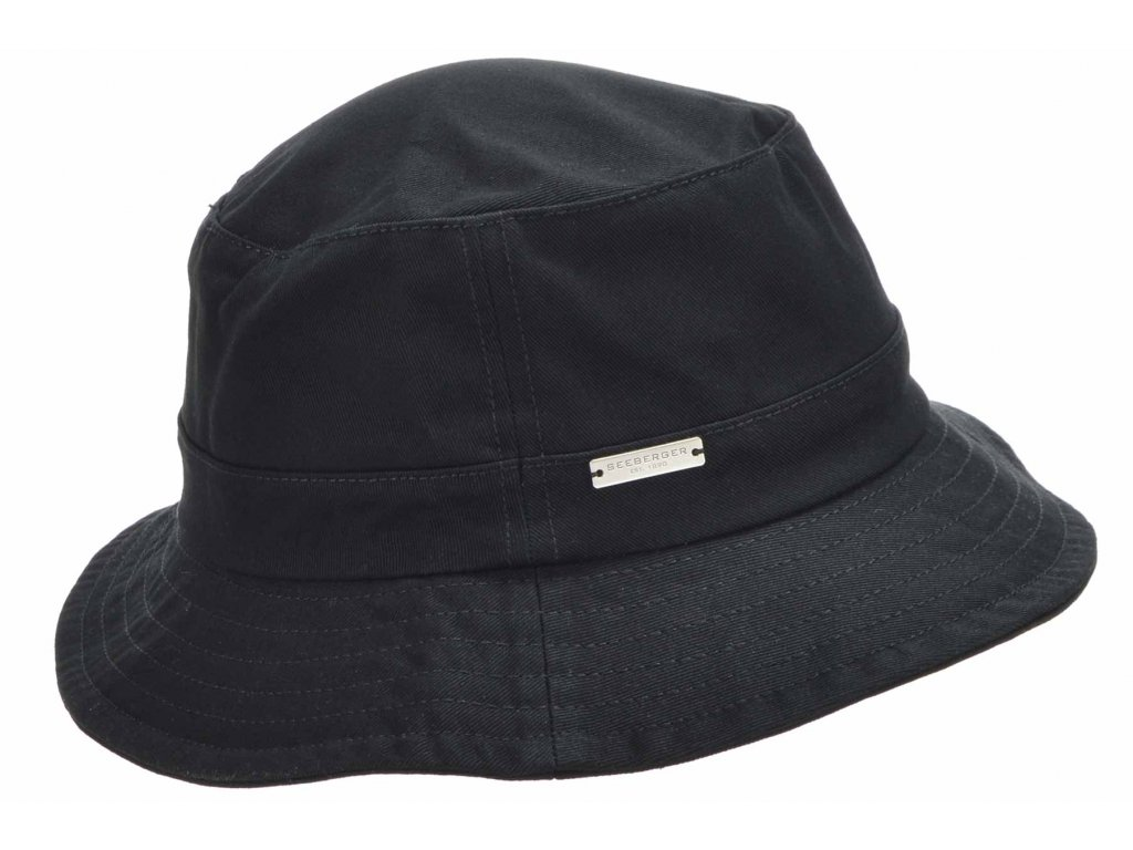 Černý bucket hat - Seeberger