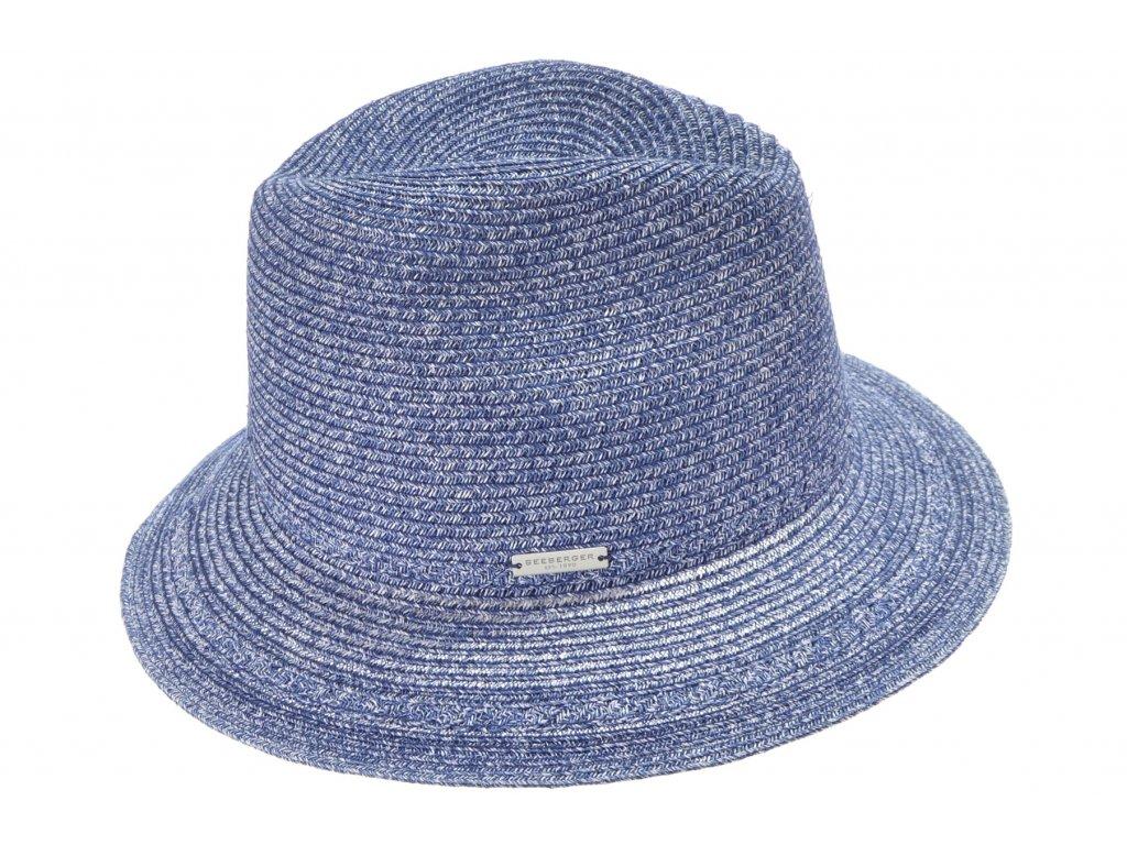 Extra lehký klobouk Fedora - modrý