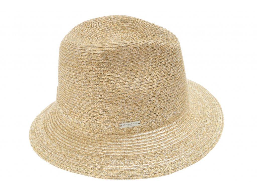 Extra lehký klobouk Fedora - béžový