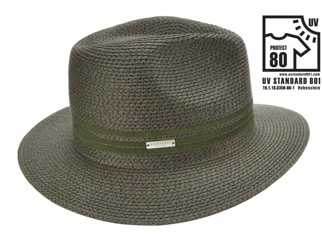 Letní zelený fedora klobouk - Seeberger