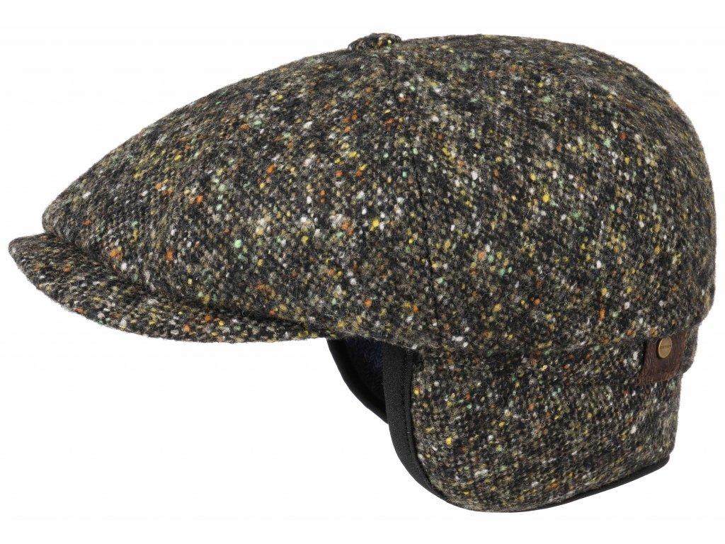 Zimní teplá vlněná bekovka - Hatteras od Stetson 6840606 (S UŠNÍ KLAPKAMI)  Vlna - zelená