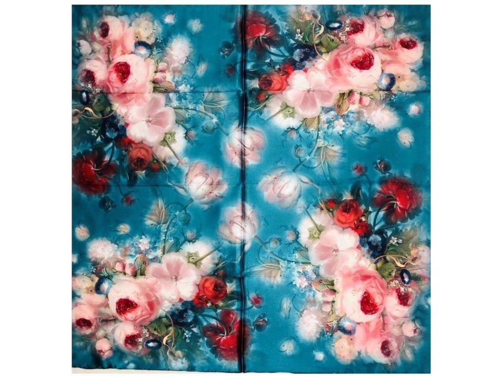 30702 hedvabny satek kvety