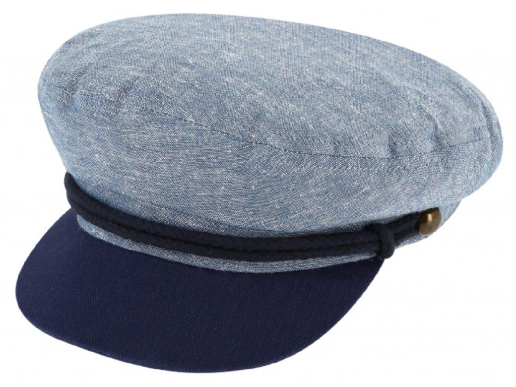Námořnickákapitánka - Riders Cap Cotton - modrá bavlněná