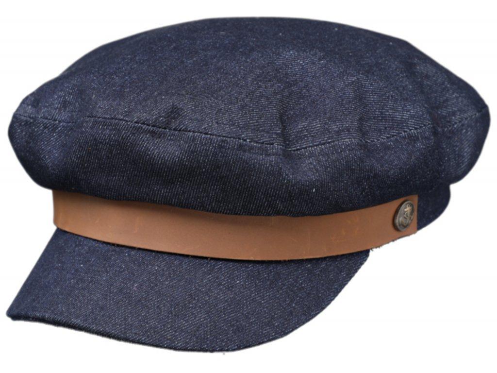 Námořnickákapitánka - Riders Cap Jeans - modrá džínová