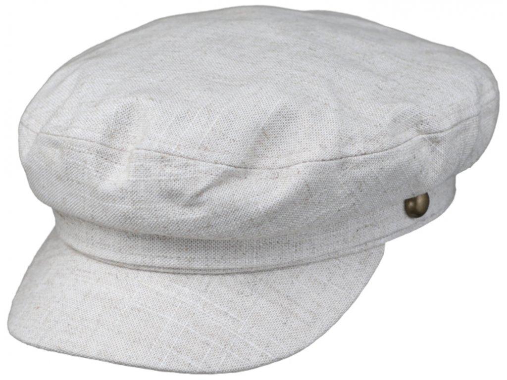 Námořnickálněná kapitánka - Riders Cap Linen - béžová