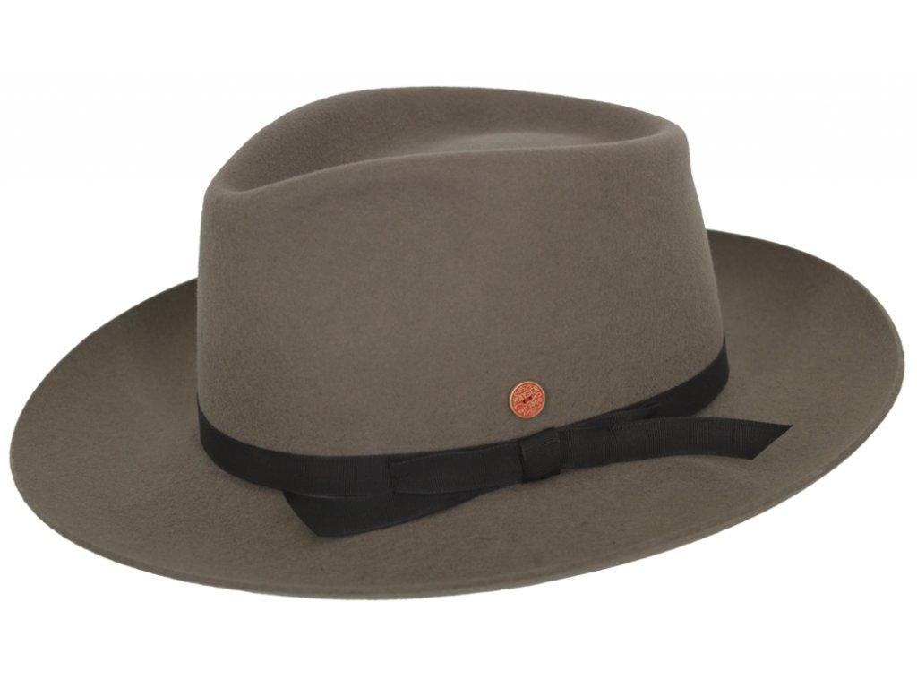 Hnědý klobouk Fedora - Mayser Ari Marble