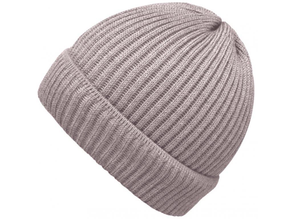 Béžová čepice Fiebig - 100 % vlna merino