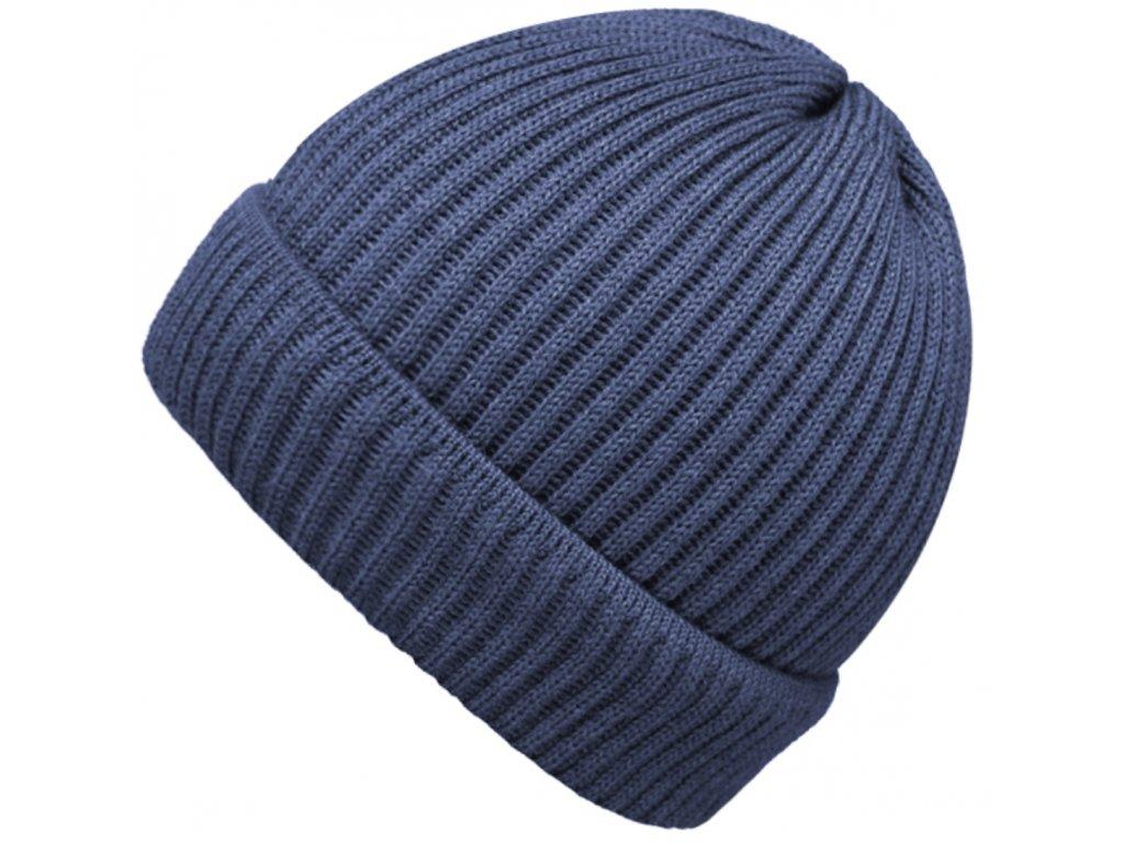 Modrá čepice Fiebig - 100 % vlna merino