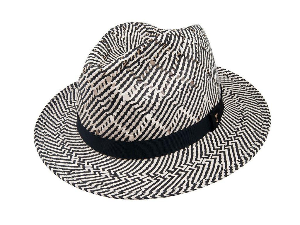 36067 black 1 pansky slameny klobouk cerny bily