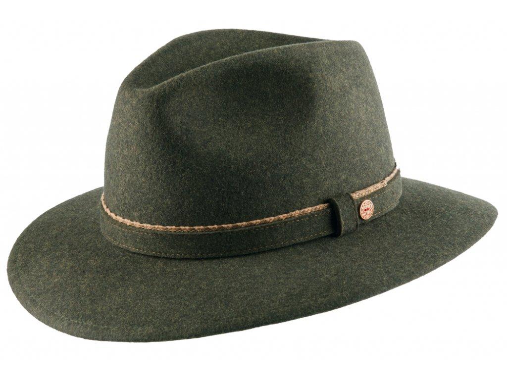Cestovní nemačkavý voděodolný zelený klobouk Mayser - Gustav Mayser