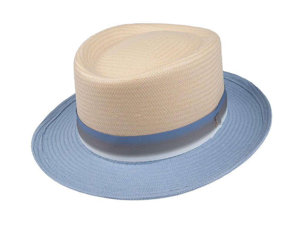 36060 sand 1 slameny klobouk natur modry