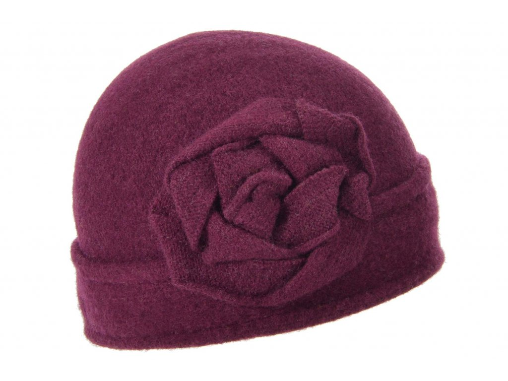 Vlněná dámská šeříková čepice od Seeberger