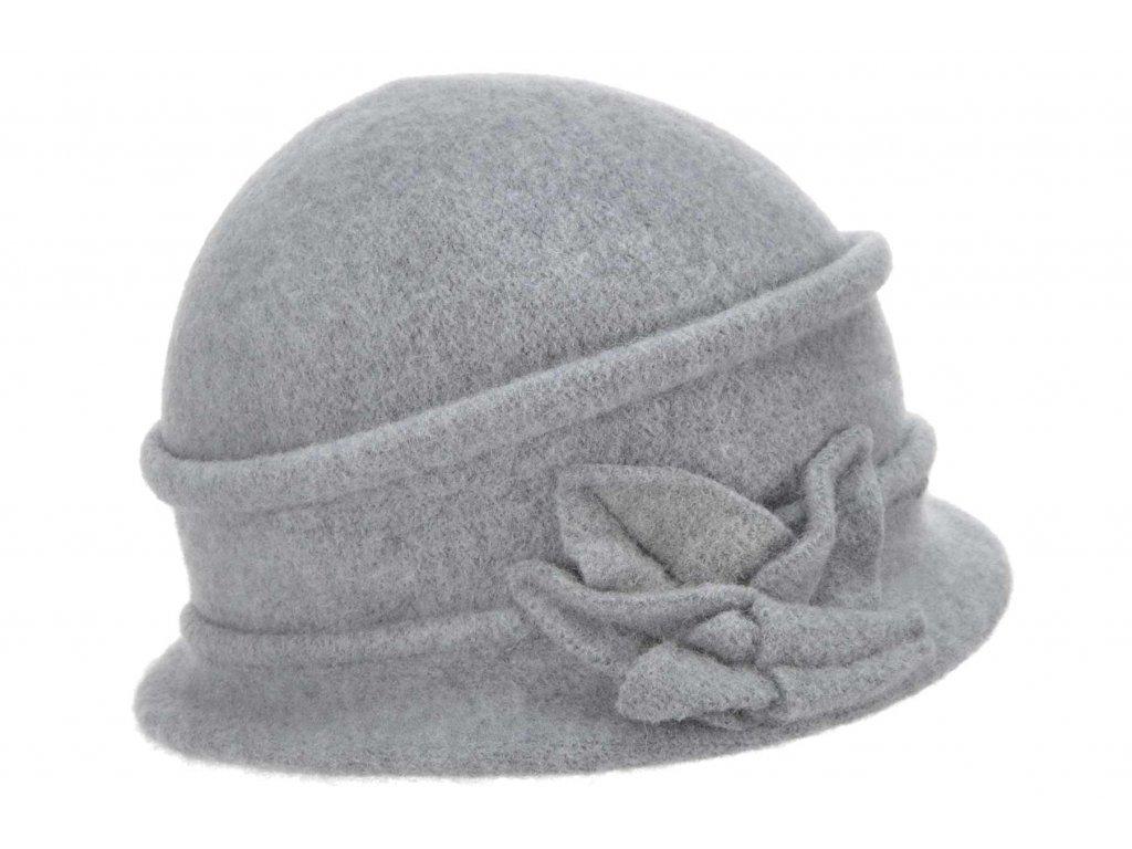 Vlněná dámská šedá čepice od Seeberger