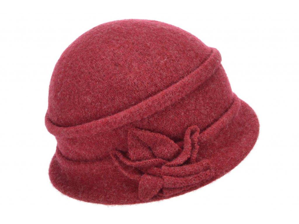Vlněná dámská bordó čepice od Seeberger
