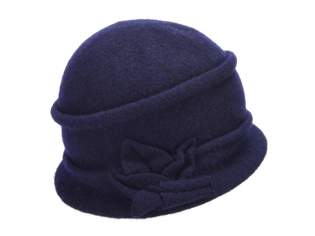 Vlněná dámská modrá čepice od Seeberger