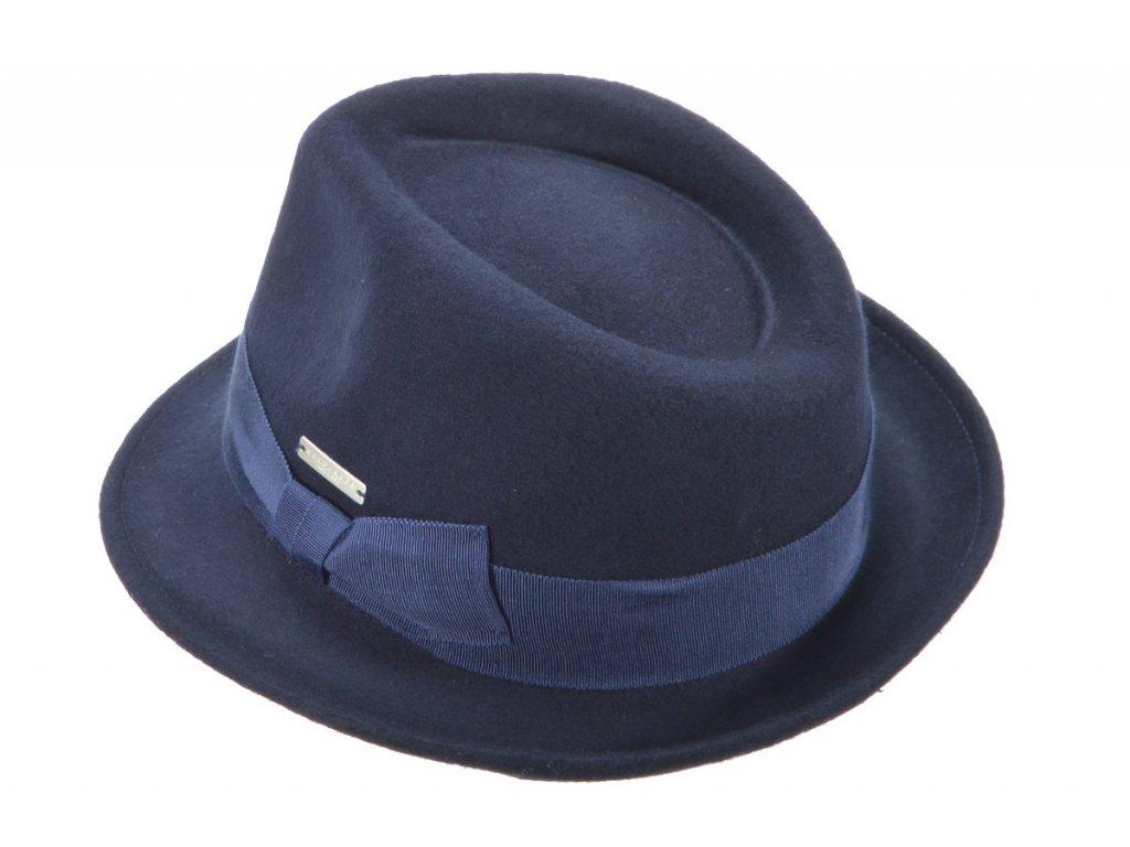 Pánský modrý klobouk. Modrý KLOBOUK. Pánský klobouk. Klobouk. Klobouk italský, značkový klobouk. Klobouk Seeberger. Unisex klobouk. Jak se nosí klobouk.