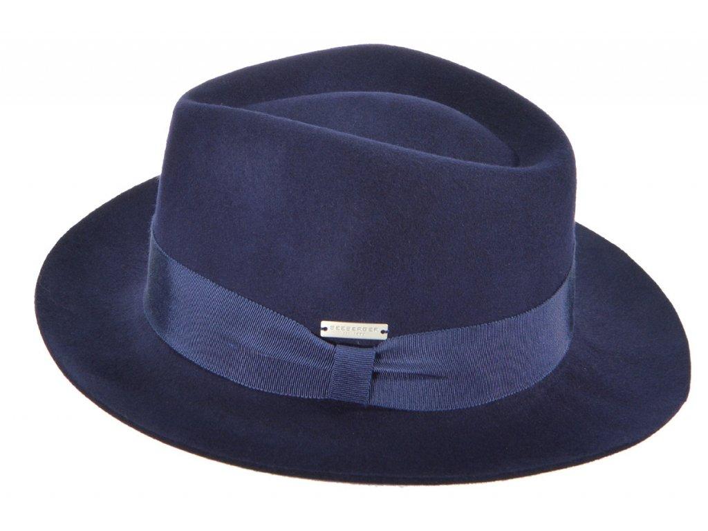 Pánský modrý klobouk. modrý KLOBOUK.