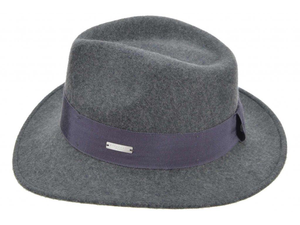Bogart klobouk plstěný od  Seeberger  - šedý s šedou stuhou