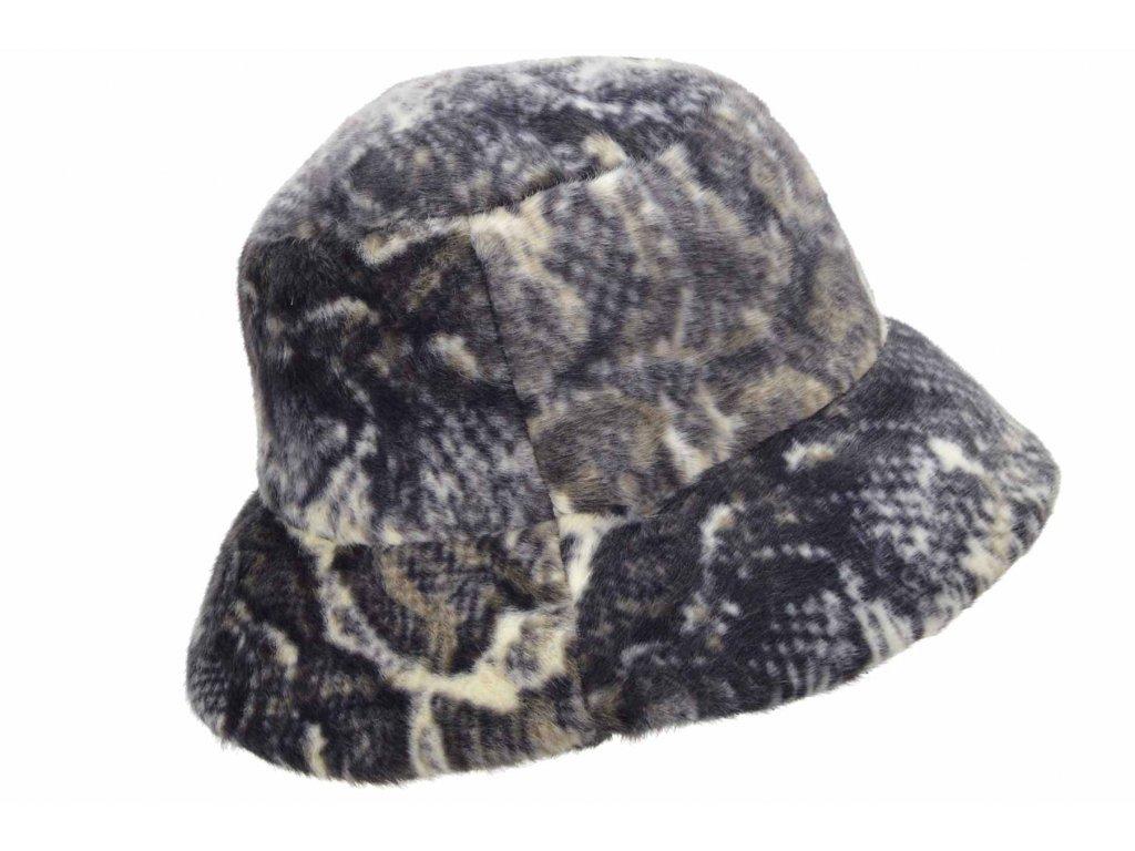 Chlupatý  klobouček - Bucket Hat - Umělá kožešina